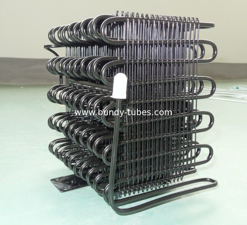 Wire Bundy Tube Refrigerator Condenser Unit For Cold Freezer , Cooler Condenser
