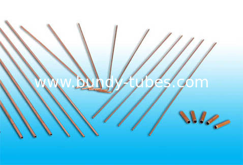Low Carbon Compressor Tubes / Copper Coated Precise Tubes 4.76 * 0.7 mm
